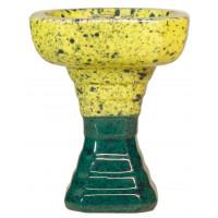 Чаша для Кальяну GrynBowls Hexahedron Зелено - Бірюзовий