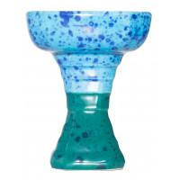 Чаша для Кальяну GrynBowls Hexahedron Блакитно-Бірюзова