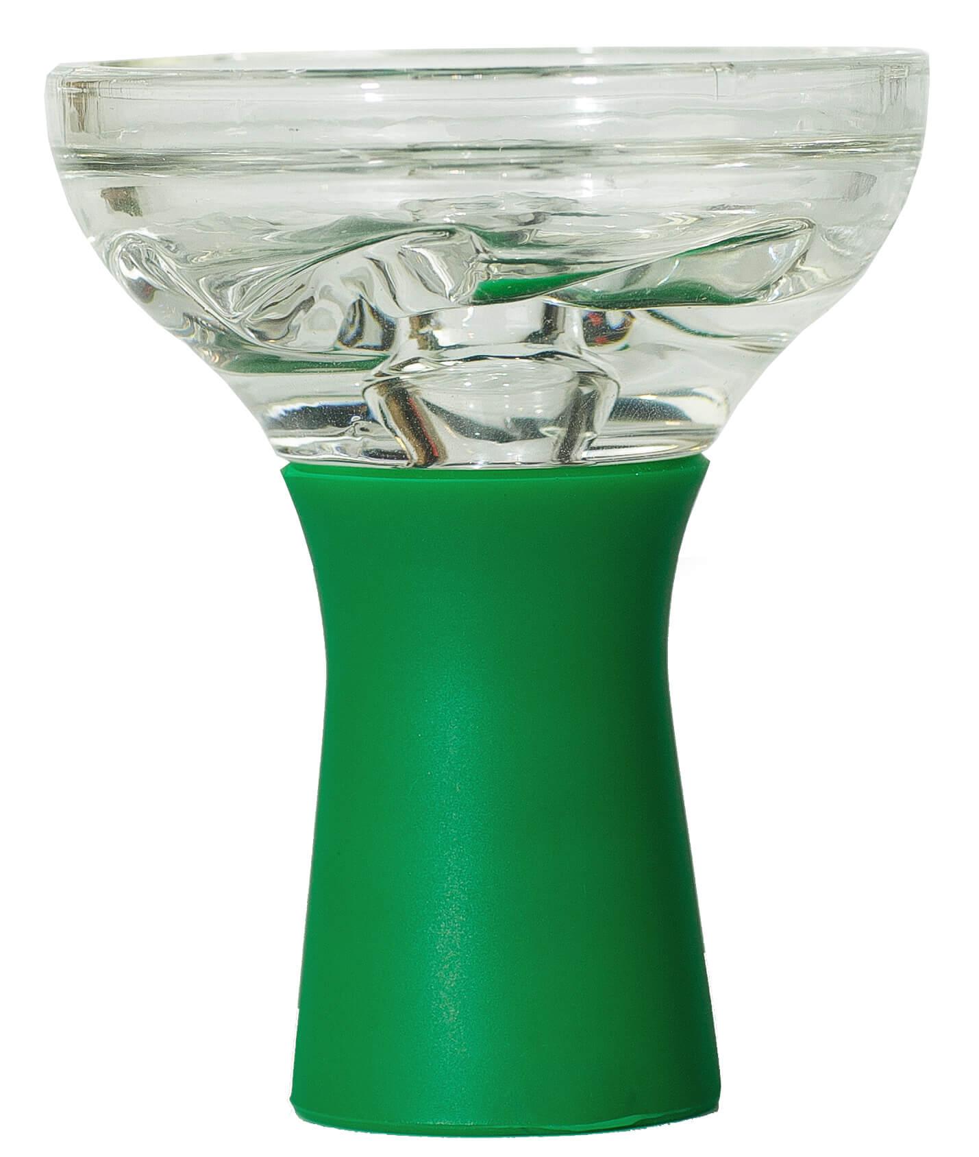 Чаша для Кальяну Скляна На Силіконовій Ніжці Зелена