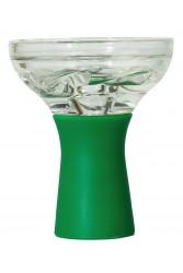 Чаша Скляна На Силіконовій Ніжці Зелена