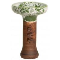 Чаша для Кальяну Облако Phunnel L Glaze top Зелений мармур