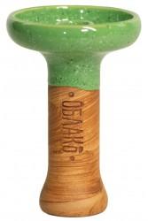 Чаша для Кальяну Облако Phunnel L Glaze top Зелений в точку