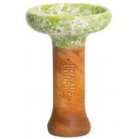 Чаша для Кальяну Облако Phunnel L Glaze top Салатовий мармур