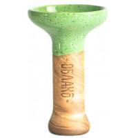 Чаша для Кальяну Облако Phunnel M Glaze top Зелений в точку