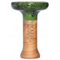 Чаша для Кальяну Облако Phunnel L Glaze top Зелений ч. Мармур