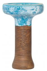 Чаша для Кальяну Облако Black Glaze top Голубой мармур