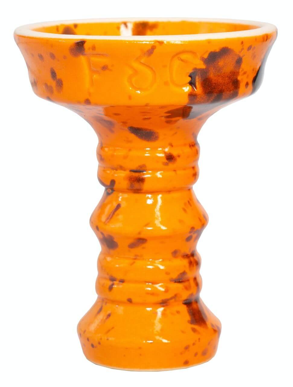Чаша для Кальяну Fog Sakura Full-Glazed Помаранчевий з чорним