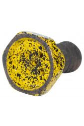 Чаша для Кальяну Telamon Evil Screw Glaze Чорно - Жовта