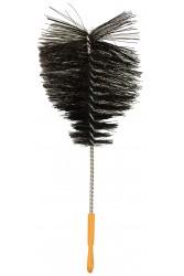 Йоржик для колби Крапля Чорний з пластиковою ручкою