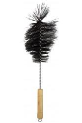 Йоржик для колби Крапля Чорний з дерев'яною ручкою